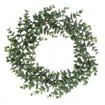 Couronne décorative eucalyptus vert Couronne artificielle d'eucalyptus Ø32cm