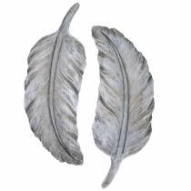 Grave bijoux plume 18cm x 6.5cm 4pcs