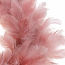 Guirlande de plumes décorative grande décoration de Pâques rose sombre Ø40cm