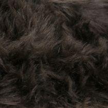 Ruban de fourrure décoratif marron foncé 16x200cm