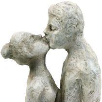 Figurine décorative couple embrassant pierre coulée 40cm