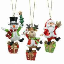 Figurines de Noël 9cm - 11cm à accrocher 3pcs