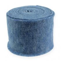 Bande de feutrine bleue 15 cm 5 m