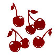 Cerises en feutrine rouge 32 p.