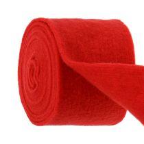 Bande de feutrine 15 cm x 5 m rouge