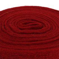 Ruban feutre rouge foncé 7.5cm 5m