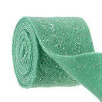 Bande de feutrine menthe avec points 15 cm 5 m