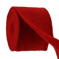 Ruban feutre 15cm x 5m rouge foncé