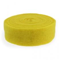 Bande de feutrine jaune 7,5 cm 5 m