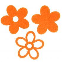 Fleur en feutrine 4 cm orange 72 p.
