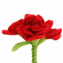 Fleur en feutre 15cm avec 3 fleurs