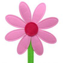 Fleur en feutrine rose 87 cm