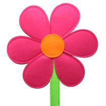 Fleur en feutrine fuchsia 87 cm