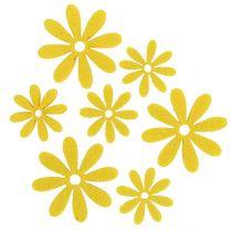 Ensemble de fleurs en feutre jaune 96pcs