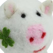 Cochon porte-bonheur feutrine 7 cm 3 p.
