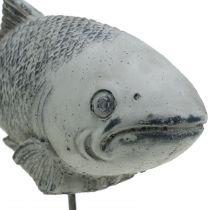Figurine de jardin poisson sur socle H. 20 cm
