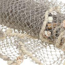 Filet de pêche avec coquillages et bois flotté 135cm