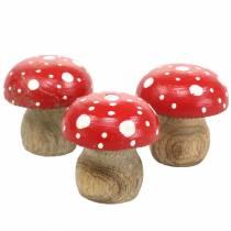 Tabourets décoratifs bois Ø4,6–5cm H4,6–4,9cm 6pcs