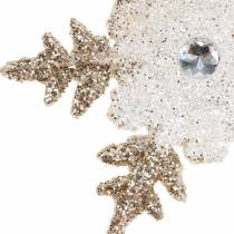 Ornements Flocon de neige Glitter Pearl 2pcs