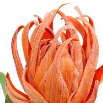 Fleur en mousse orange 12 cm L. 30 cm 1 p.