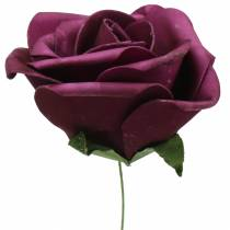 Mousse Rose Violet Ø15cm 4pièces