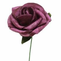 Mousse Rose Ø3,5cm Mauve 48pcs