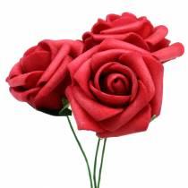 Mousse Rose Ø3,5cm rouge 48pcs