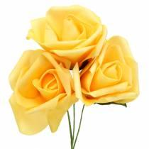 Mousse Rose Ø6cm Jaune 27pcs