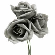 Mousse Rose Ø6cm Gris 27pcs