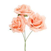 Rose en foam Ø 6 cm Rose saumon 27 ex.