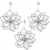 Décoration de printemps, fleur de fil, fleur en métal, décoration de mariage, pendentif de décoration été 6pcs