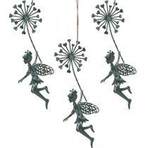 Décoration de printemps, elfe au pissenlit, pendentif décoration fée fleur, décoration en métal 3 pièces