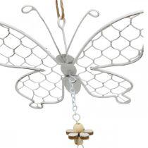 Décoration de printemps, papillons en métal, Pâques, pendentif de décoration papillon 2pcs