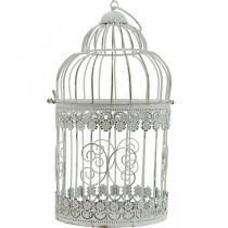 Décoration de printemps, cage à oiseaux à suspendre, décoration en métal, vintage, décoration de mariage 28,5 cm