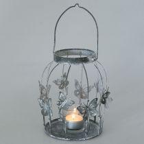 Décoration de printemps, lanterne avec papillons, lanterne en métal, été, décoration de bougie