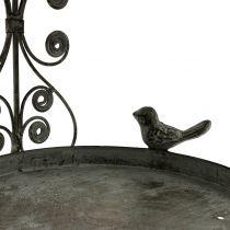 Mangeoire à oiseaux à suspendre de style vintage H35cm
