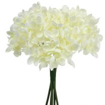 Bouquet d'hortensias artificiels blanc L 25 cm