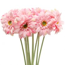 Gerbera artificiel rose 47 cm 12 p.