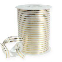 Ruban décoratif argenté à 2 bandes or 10 mm 250 m
