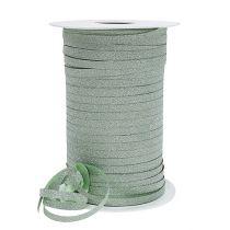 Ruban cadeau avec paillettes vert clair 5 mm 150 m