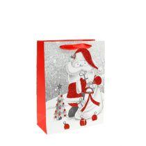 Sac à cadeaux Père Noël 24 x 18 x 8 cm