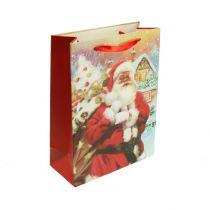 Pochette à cadeaux Père Noël 24 x 18 x 8 cm