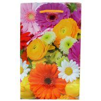 Pochette à cadeaux avec fleurs 12 x 19 cm 1 p.