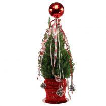 Boule de Noël en plastique petite Ø14cm rouge 1p
