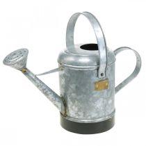 Arrosoir décoratif jardinière en métal panier suspendu aspect antique 40 × 18 × 22cm
