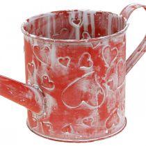 Arrosoir motif coeur, Fête des Mères, bidon en métal, Saint Valentin Ø10,5cm