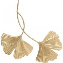 Feuille de Ginkgo métal Ginkgo décoration décoration métal doré 14cm 12pcs