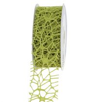 Ruban grillagé vert 40 mm 10 m