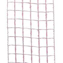 Ruban quadrillé 4,5 cm x 10 m rose