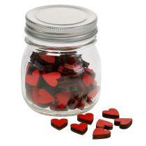 Cœurs rouges en bocal 9 cm